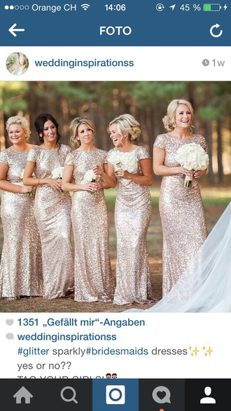 dress nude glitter dress bridesmaid