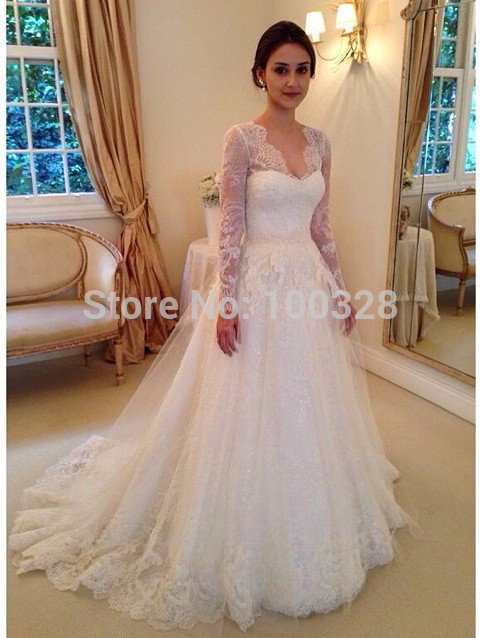 Buy custom made elegant bridal gown long for Wedding dress appliques suppliers