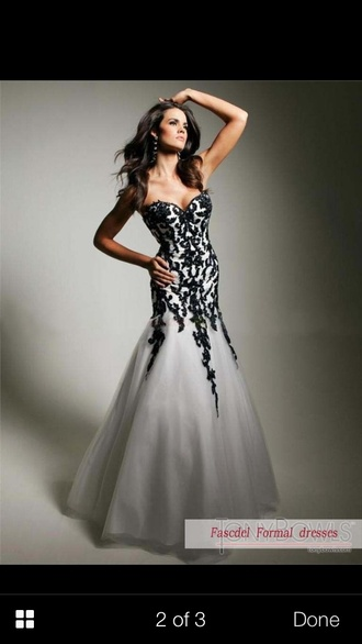dress black white black and white formal dress prom dress formal prom long mermaid beautiful long dress design amazing b&w