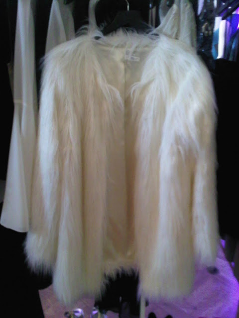 Celebstyle White Cream Faux Fur Coat Jacket | eBay