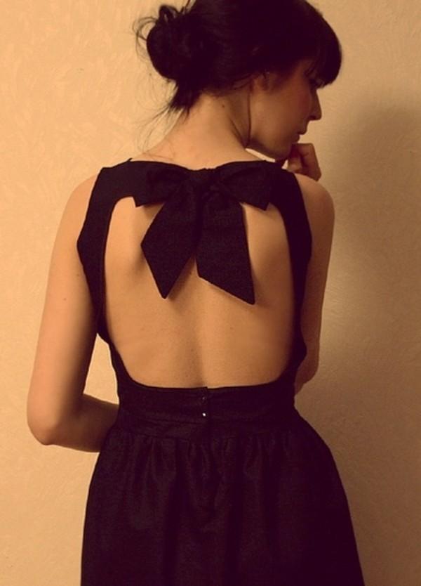 dress bow little black dress