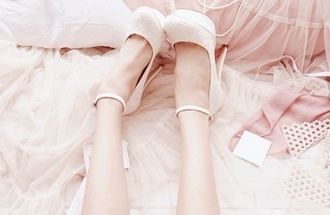 shoes white high heels white high heels lace platform shoes