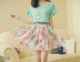 skirt cute outfits top cute mint