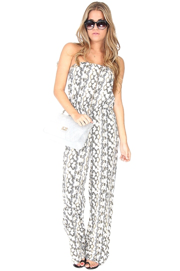 Python Print Jumpsuit at Blush Boutique Miami - ShopBlush.com