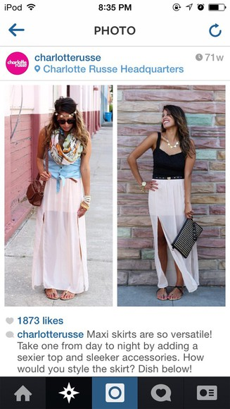 maxi skirt fashion style