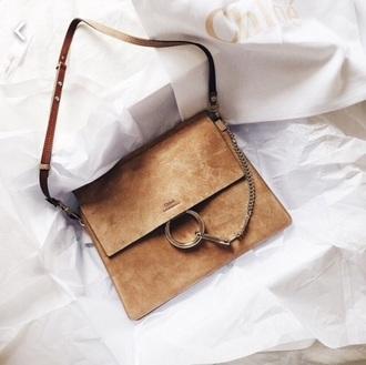 bag brown suede