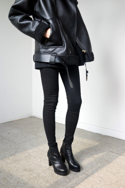 excellent black leather jacket target