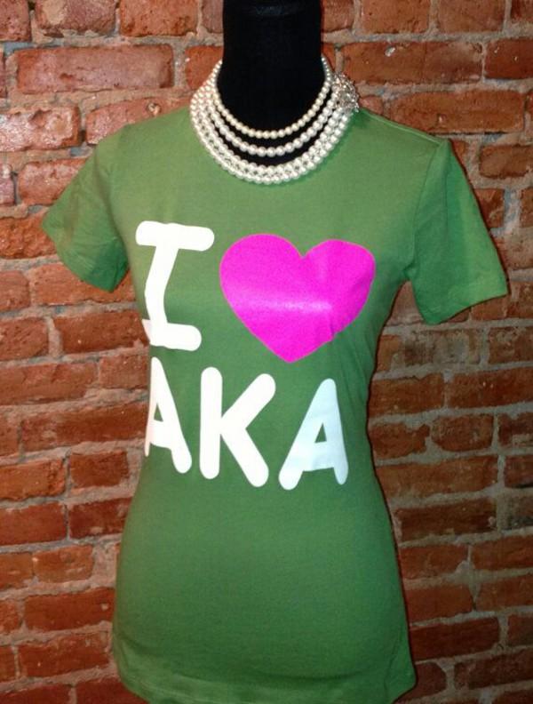 t-shirt aka green