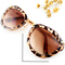 Leopard rim brown sunglasses - sheinside.com