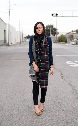 the fancy pants report blogger jacket jewels blanket scarf animal print