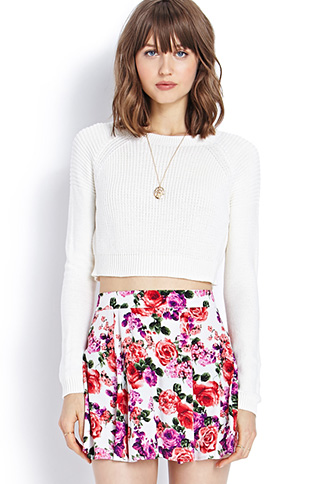 Cropped Raglan Sweater | FOREVER 21 - 2000071422