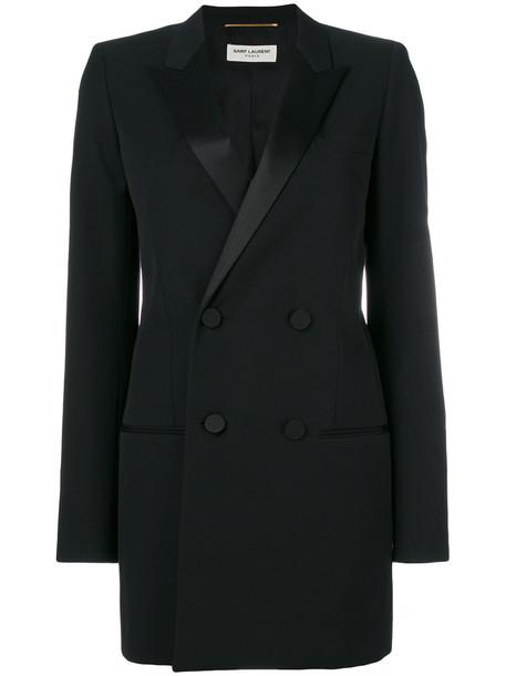 Saint Laurent jacket women cotton black silk wool