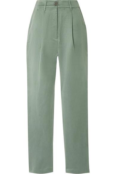 Mara Hoffman - Dita Tencel and linen-blend staight-leg pants