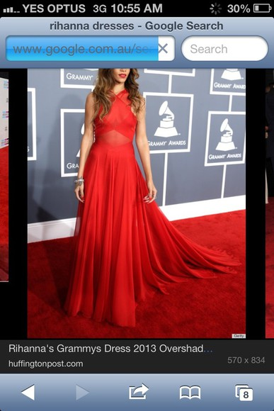 dress long prom dresses red dress red formal formal dress rihanna