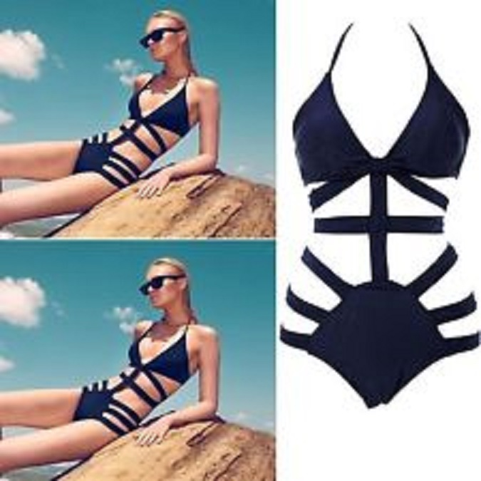 One piece strappy swimsuit · summah breeeze · online store powered by storenvy