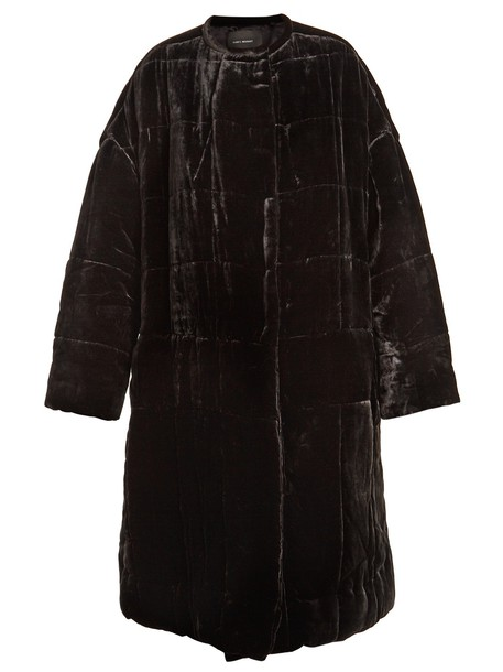 Isabel Marant coat quilted velvet black