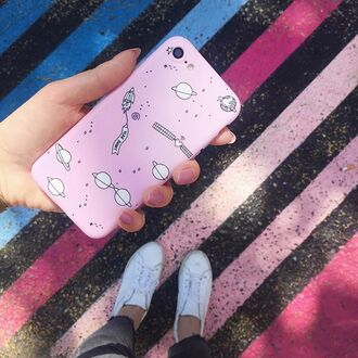 phone cover yeah bunny pastel pink space iphone cover leave me alone