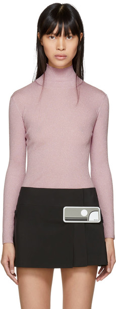 turtleneck pink sweater