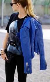 jacket,blue,shark