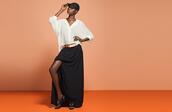 shoes,nastygal,nastygal.com,shopnastygal.com,black skirt,black,black maxi skirt,maxi skirt,slit,slit maxi skirt,maxi skirt with slits,white blouse,white,belt,lace,lace cap,hat,skirt,blouse,black cap