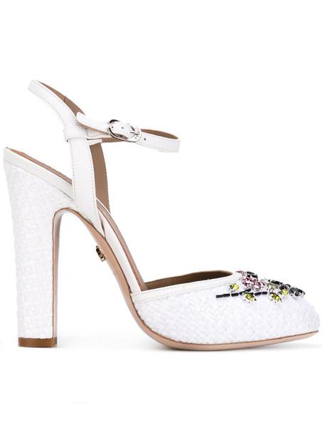 LE SILLA women pumps leather white shoes