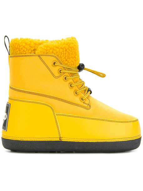 Kenzo snow boots women snow yellow orange shoes