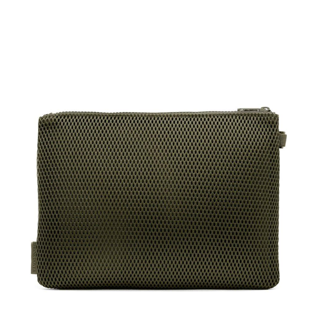 Parker Airmesh Pouch in Dark Moss, Large