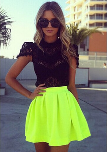 Women fashion sexy fluorescent green sirts s003 from foreverfashion on storenvy