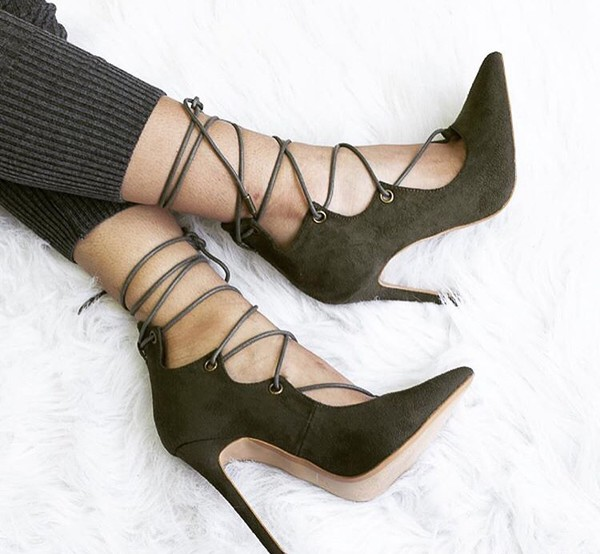shoes green heels lace up heels cute shoes olive green army green high heel sandals