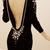Black Long Sleeve Sheath Sexy Knit Sweater Dress : KissChic.com