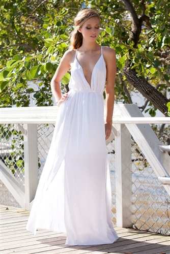 Walking on air maxi dress