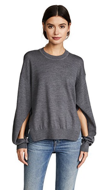 T by Alexander Wang sweater charcoal