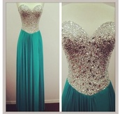 dress,homecoming,sequins,silver,blue,turquiose,pretty,long dress,prom,mine,strapless dress,jewled,sweet heart