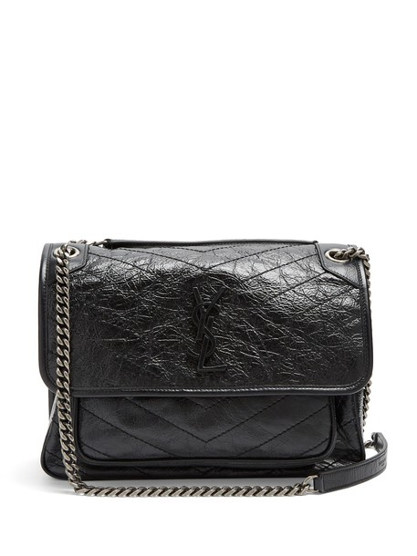 Saint Laurent quilted bag leather bag leather black