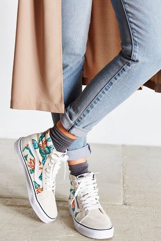 shoes vans high top sneakers white
