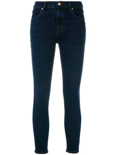 J BRAND jeans skinny jeans cropped women cotton blue