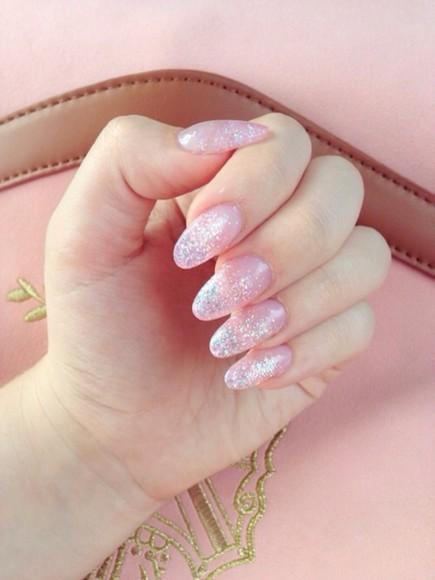 glitter nail polish kawaii