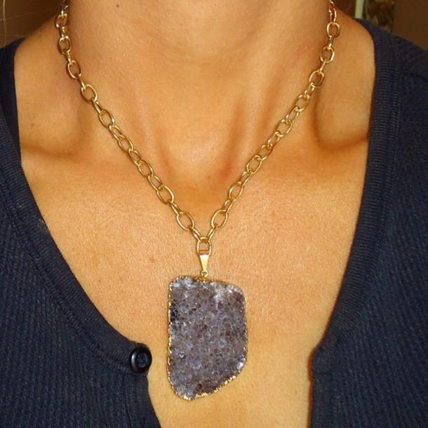 jewels purple gemstone freeform naturalstones necklace pine jewelry necklace. fashion style bohemian necklace boho chic