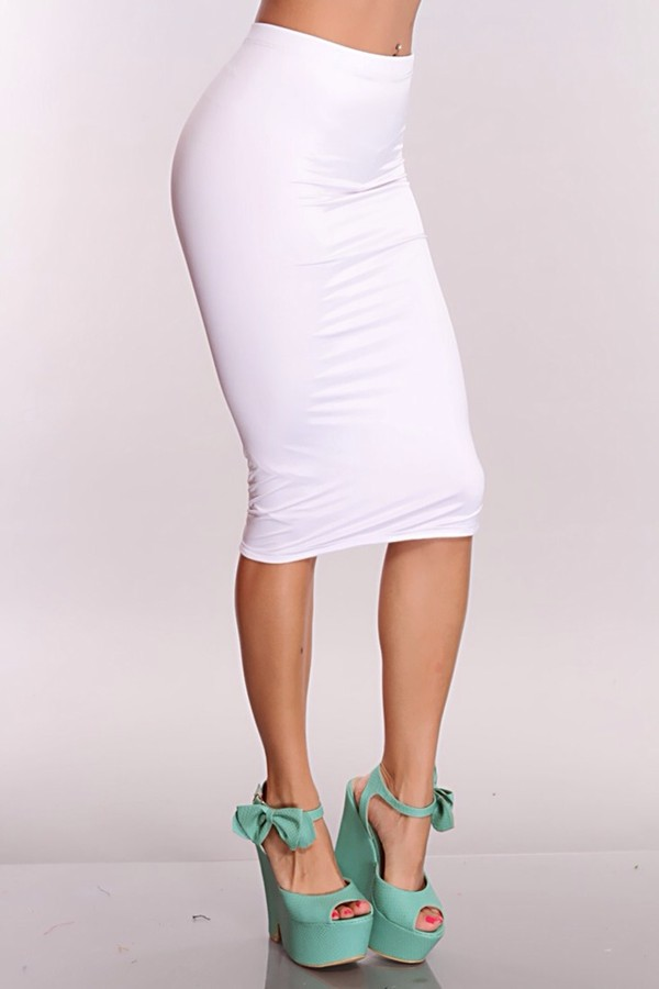 skirt white pencil skirt