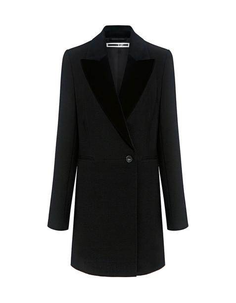 McQ Alexander McQueen coat boyfriend coat boyfriend black