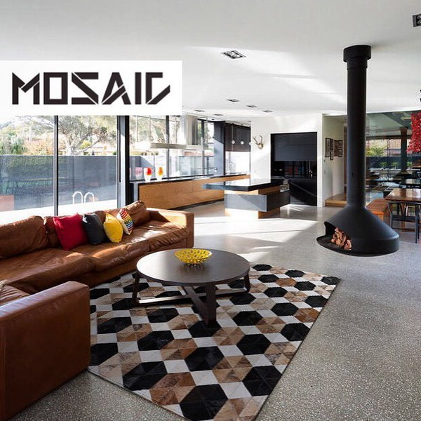 Sapphire By Mosaic Rugs Luxury Handcrafted Black Brown