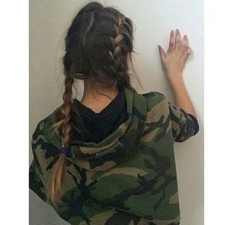 jacket green camouflage braid