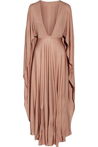 dress maxi dress maxi silk taupe