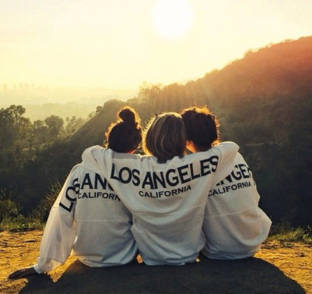 sweater los angeles white long sleeve