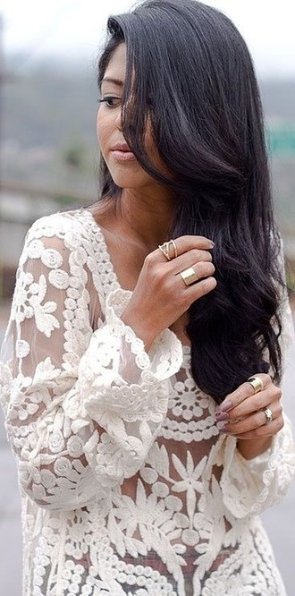 sweater lace see through