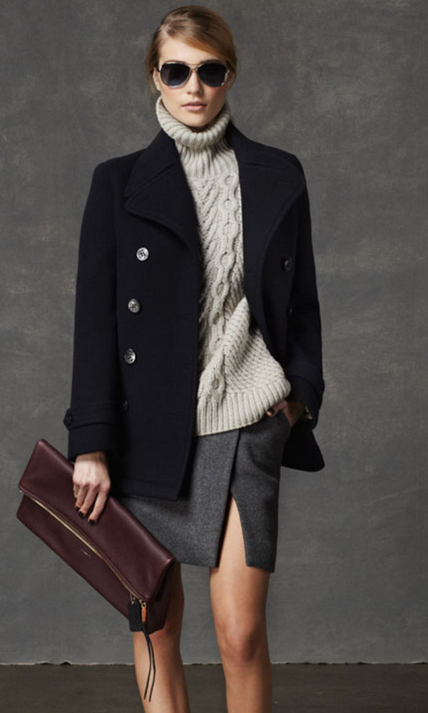 skirt coach lookbook fashion coat sunglasses bag sweater pea coat knitted sweater elegant