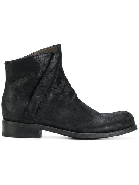 OFFICINE CREATIVE women classic leather suede black shoes
