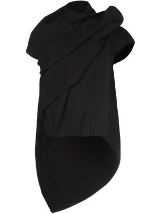 top high high low draped black