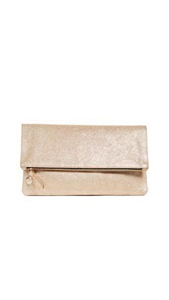 Clare V. clutch gold bag