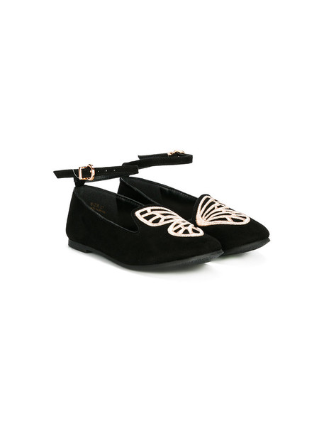 butterfly suede black shoes